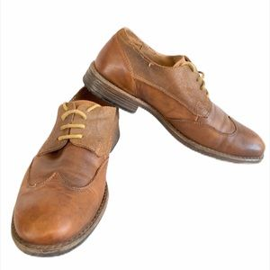 STEVE MADDEN Mens Shoes Oxford leather brown 9.5M